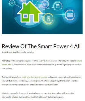 Review Of The Smart Power 4 All