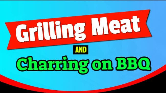 Grilling Meat and Charring on BBQ