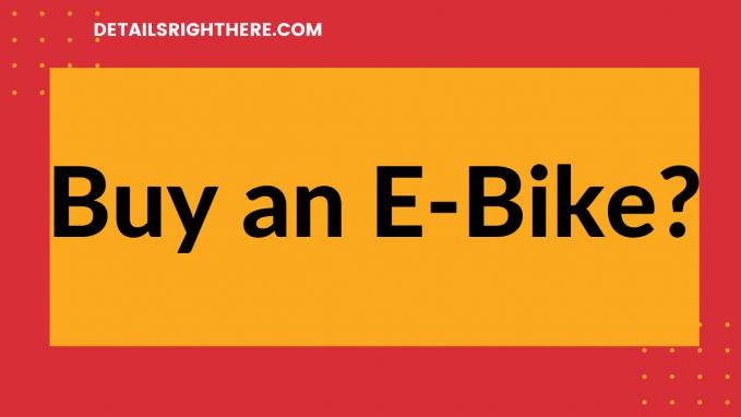 buy an e-bike